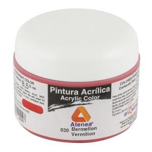 PINTURA ACRILICA ATENEA 250ML 030 BERMELLON