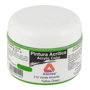 PINTURA ACRILICA ATENEA 250ML 210 VERDE AMARILLO