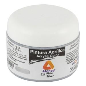 PINTURA ACRILICA ATENEA 250ML 224 PLATA