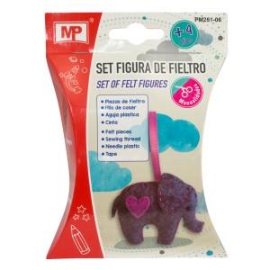SET FIGURAS DE FIELTRO MP PM251-06 ELEFANTE (12X12)