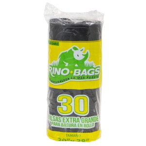 BOLSA BD P/BASURA RINO BAGS EXTRA GRANDE 30 UNI.