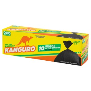 BOLSA BD P/BASURA KANGURO EXTRA G. NEGRO 10 UNI.