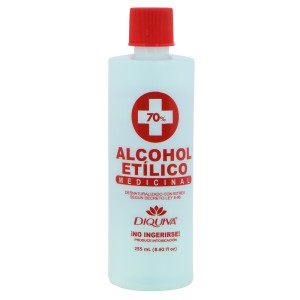 ALCOHOL ETILICO DIQUIVA 70% 8 OZ.