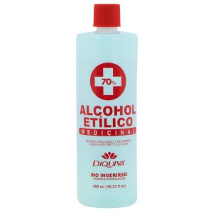ALCOHOL ETILICO DIQUIVA 70% 16 OZ.