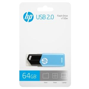 MEMORIA HP 2.0 USB 64GB V150W BLUE
