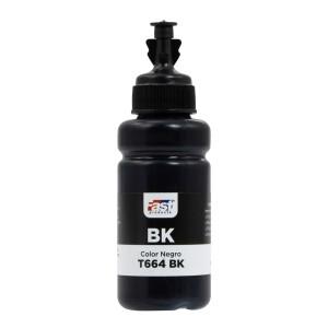 TINTA FAST T664-BK EPSON L120/L220/L380/L575  BLACK (70ML)