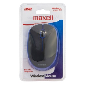 MOUSE MAXELL MOWL-100 WIRELESS BLACK/BLUE (40)