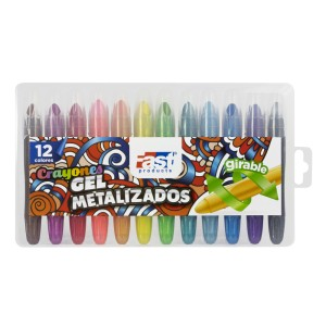 CRAYON GEL FAST COLORFUL METALICO 12 COL. (36)