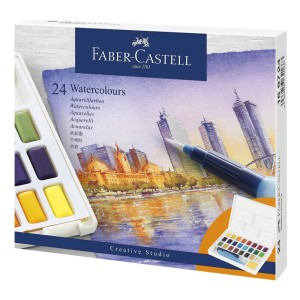 ACUARELA FABER CASTELL PROFESIONAL 169724 24 COLORES