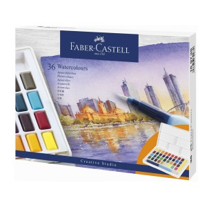 ACUARELA FABER CASTELL PROFESIONAL 169736 36 COLORES