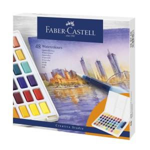 ACUARELA FABER CASTELL PROFESIONAL 169748 48 COLORES
