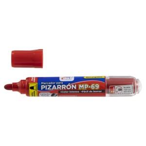 MARCADOR P/PIZARRA FAST MP-69 RECARGABLE BX1 ROJO