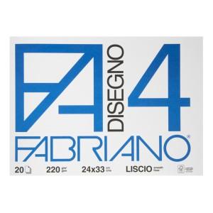BLOCK DISEGNO FABRIANO 5200597 20H. 220GR. 24X33CMS (40)