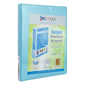 CARTAPACIO KYMA C/FUNDA OFICIO 1″ CELESTE (12)