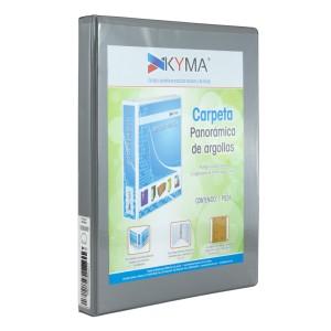 CARTAPACIO KYMA C/FUNDA OFICIO 1″ GRIS (12)