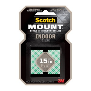 CINTA ADHESIVA SCOTCH 111H-SQ-48 MOUNTING 2.5CMX2.5CM 48 CUAD. (24)