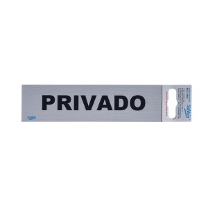 "CALCOMANIA DE ALUMINIO SABLON 6500 16.5X4.5CM. ""PRIVADO"""