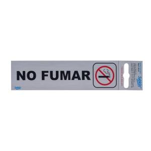 """CALCOMANIA DE ALUMINIO SABLON 6515 16.5X4.5CM. """"NO FUMAR"""""""