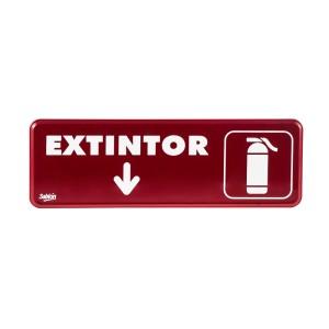 """SEÑALIZACION SABLON 7907 23X7.5CM. """"EXTINGUIDOR"""""""
