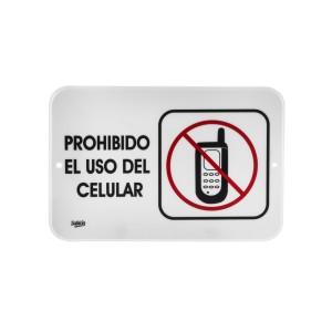 """SEÑALIZACION SABLON 7927 22.8X15.2CM. """"PROHIBIDO USO DEL CELULAR"""""""