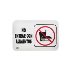 "SEÑALIZACION SABLON 7947 22.8X15.2CM. ""NO ENTRAR CON ALIMENTOS"""