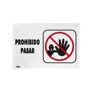 """SEÑALIZACION SABLON 7956 35X24CM. """"PROHIBIDO PASAR"""""""