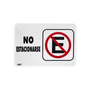 """SEÑALIZACION SABLON 7957 35X24CM. """"NO ESTACIONARSE"""""""