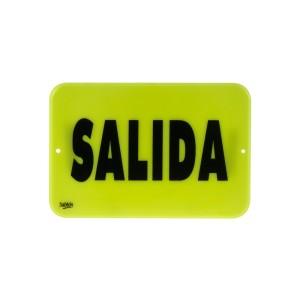 """SEÑALIZACION SABLON 7935F 22.8X15.2CM. """"SALIDA"""""""