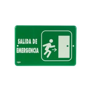 "SEÑALIZACION SABLON 7936F 22.8X15.2CM. ""SALIDA DE EMERGENCIA"""