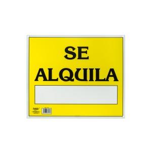 """SEÑALIZACION SABLON 7969 33.5X40CM. """"SE ALQUILA"""""""