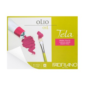 BLOCK OLEO FABRIANO 68003040 10H. 300GR. TELA 12X16