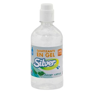 ALCOHOL EN GEL SILVER 70% 500 ML  (24)