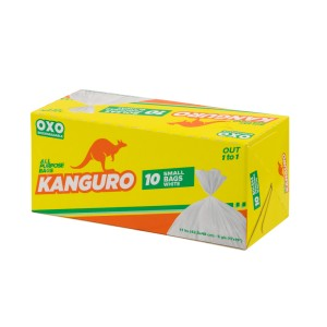 BOLSAS BD P/BASURA KANGURO PEQUEÑO BLANCO  5 GL.