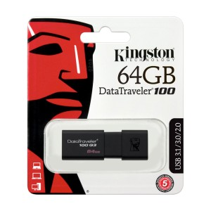 MEMORIA KINGSTON USB 3.0 64GB DT100G3 BLACK